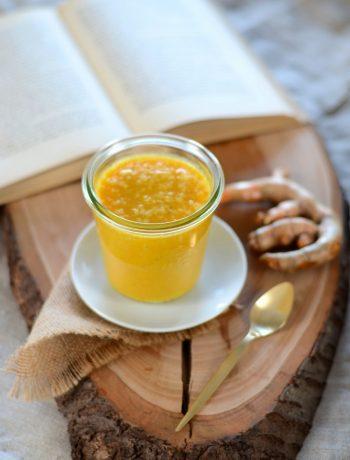 Smoothie orange, banane, gingembre et curcuma