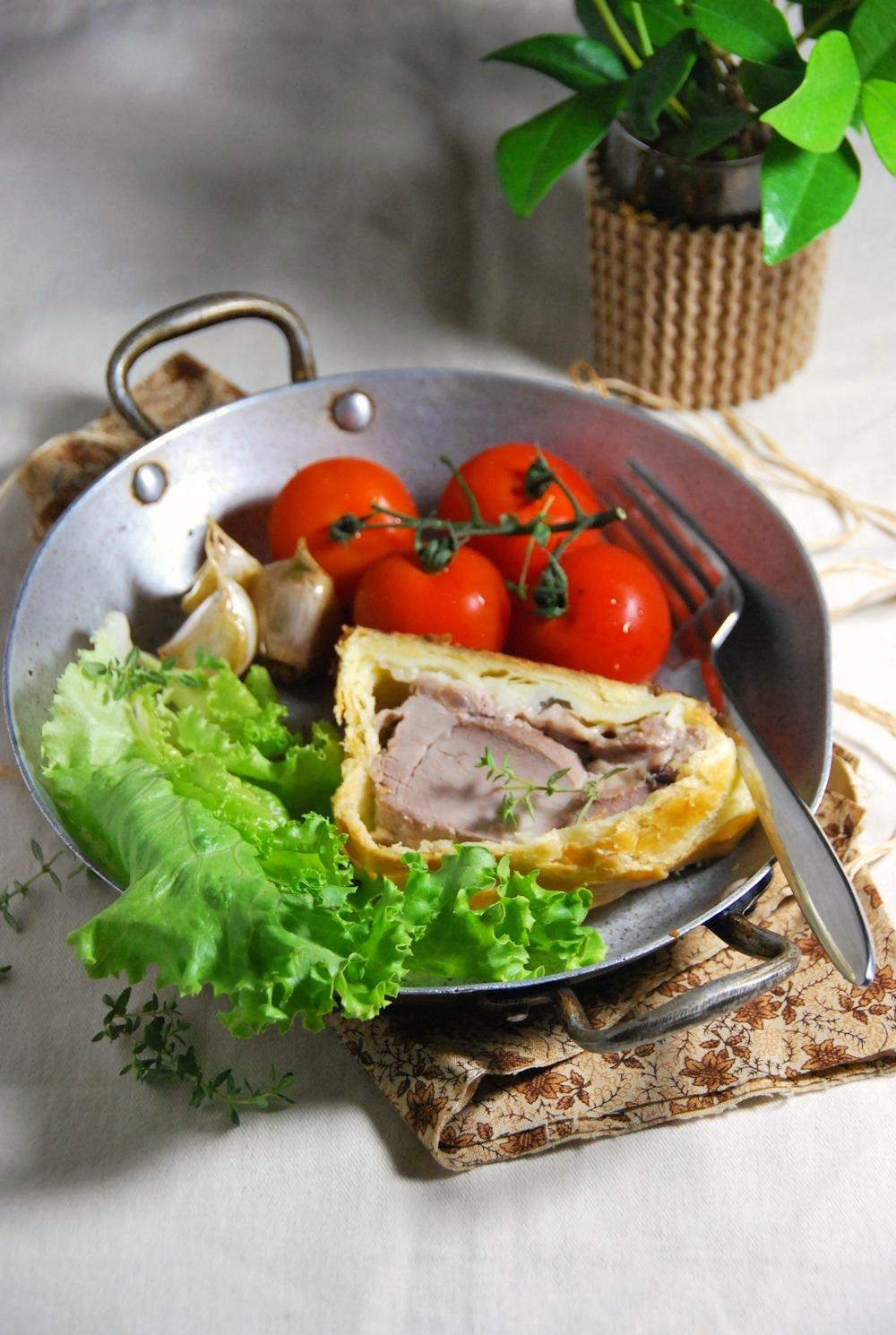 Filet mignon en croute à la crème d'ail - Tangerine zest