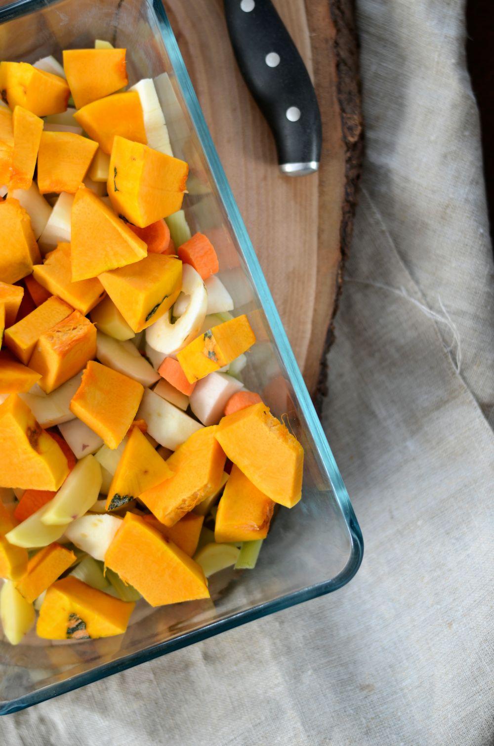 Velouté de légumes d'hiver rôtis