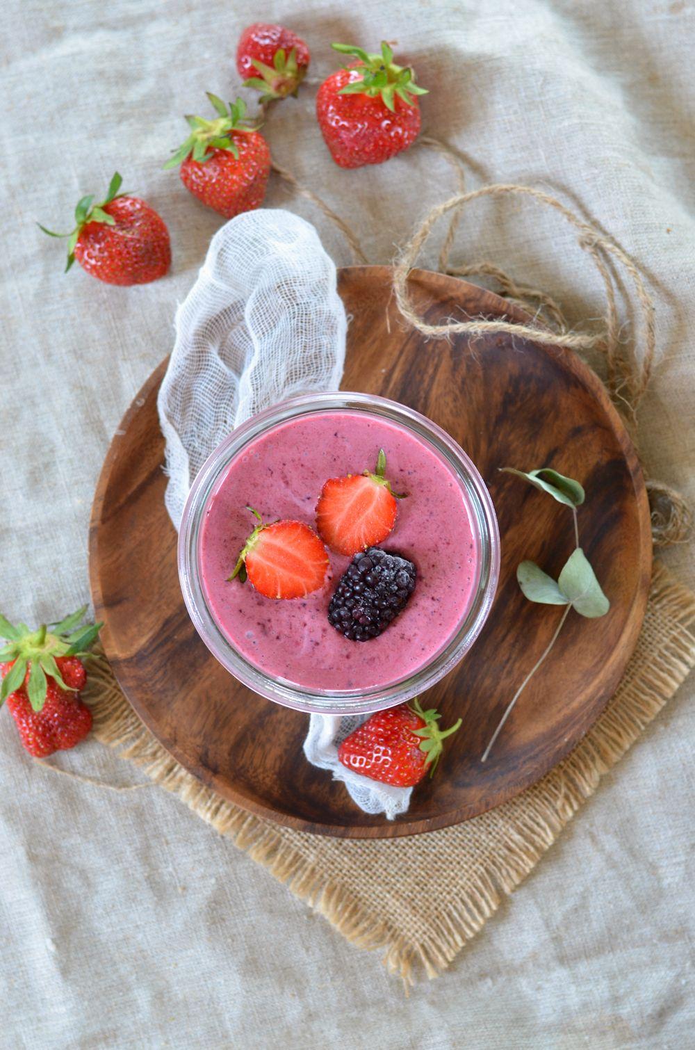 Yaourt glacé aux fruits rouges