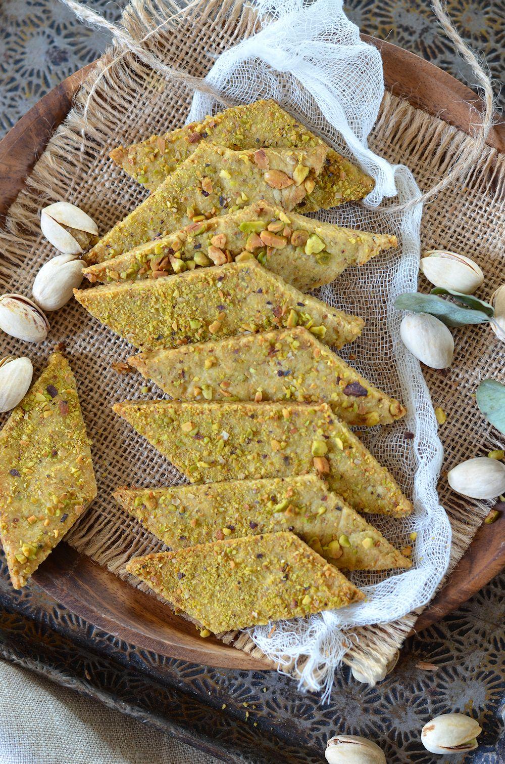 Biscuits apéritifs à la pistache