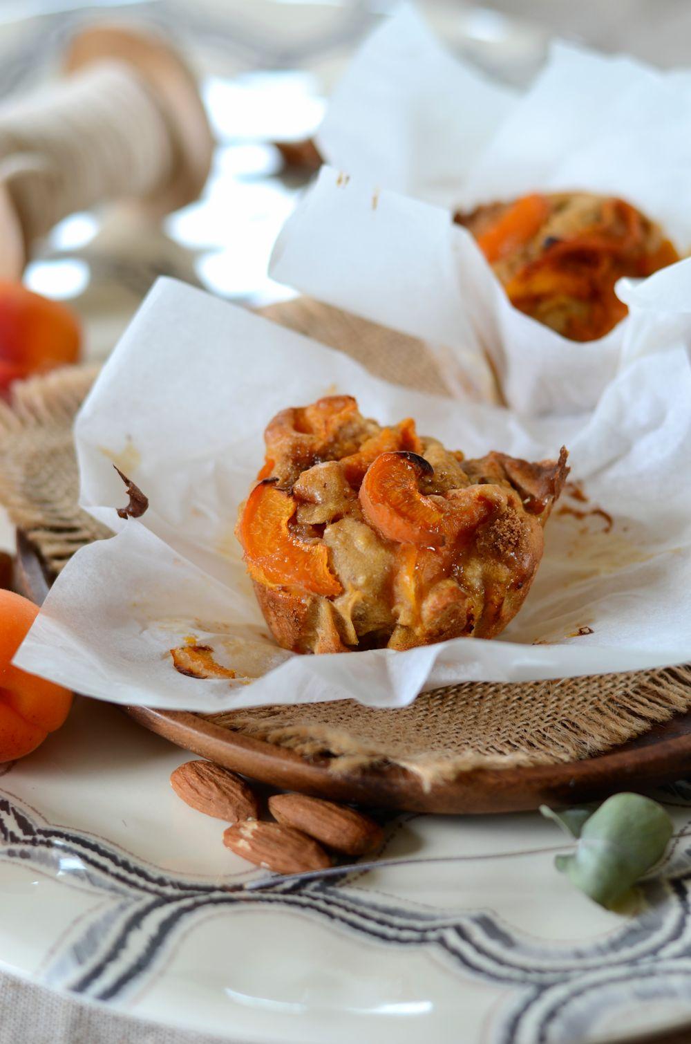 Muffins aux abricots et amandes