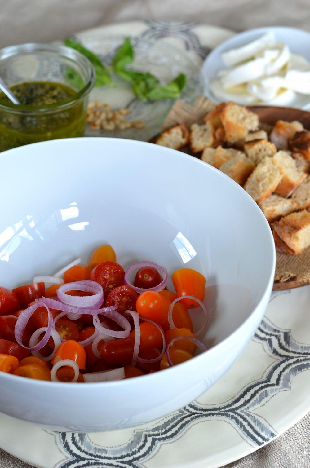 Panzanella façon salade caprese