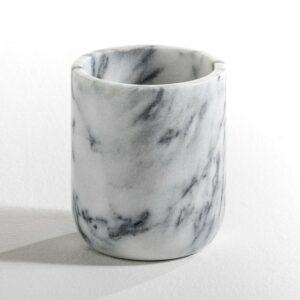 Pot en marbre forme ovale H14 cm, Edwald