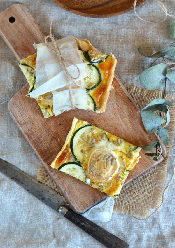 Tarte courgette, fromage de chèvre et ricotta