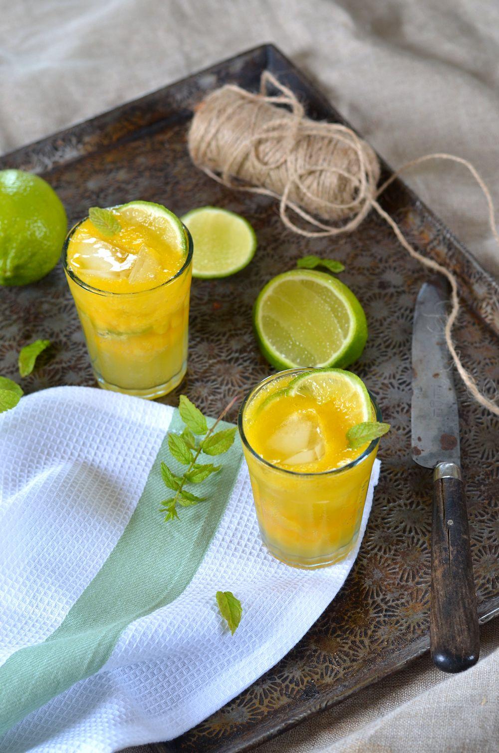 mocktail la mangue gingembre et citron vert recette tangerine zest. Black Bedroom Furniture Sets. Home Design Ideas
