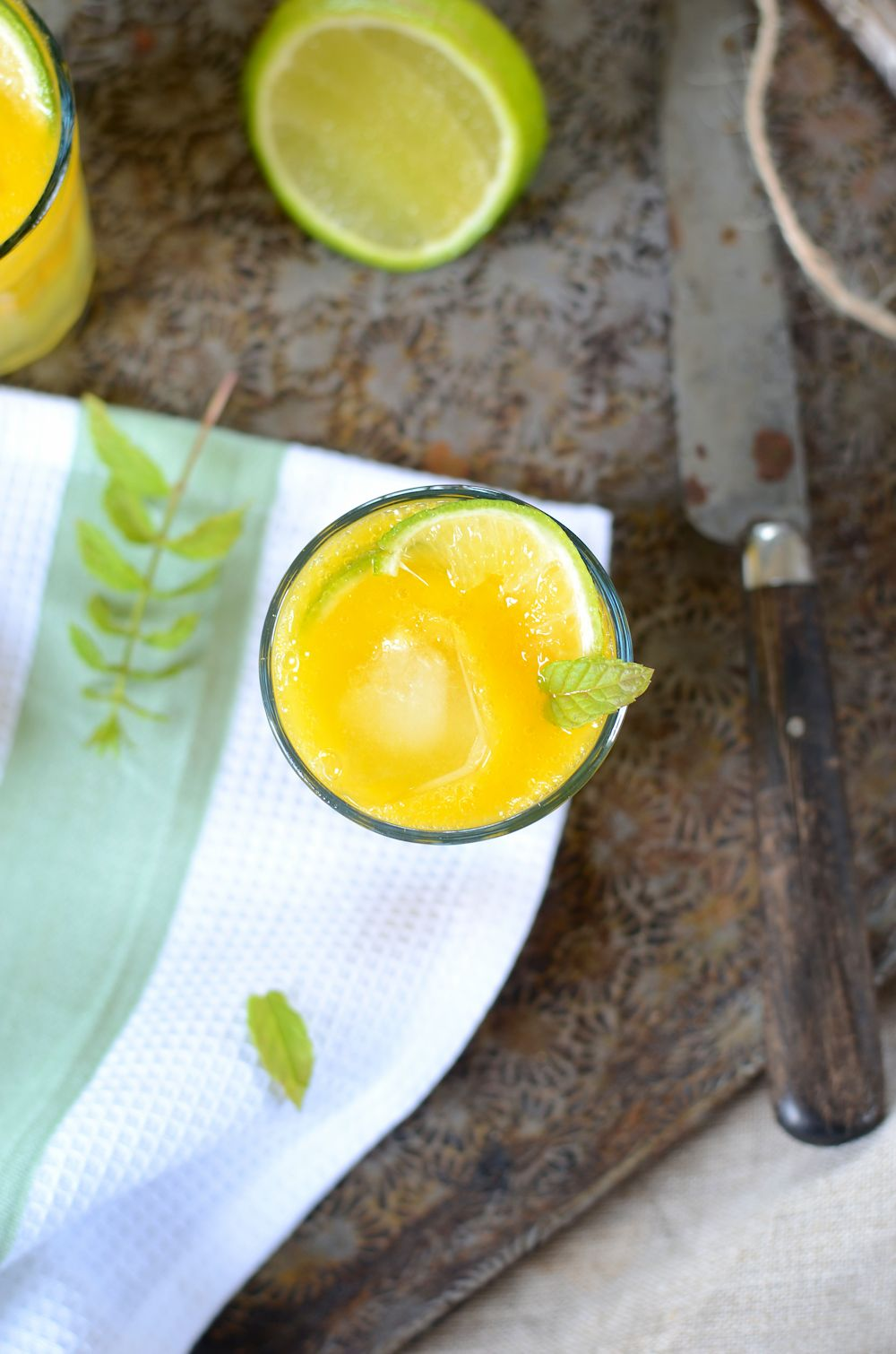 Mocktail à la mangue, gingembre et citron vert