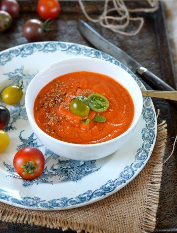 Soupe de tomate rôties {à manger chaude ou froide}