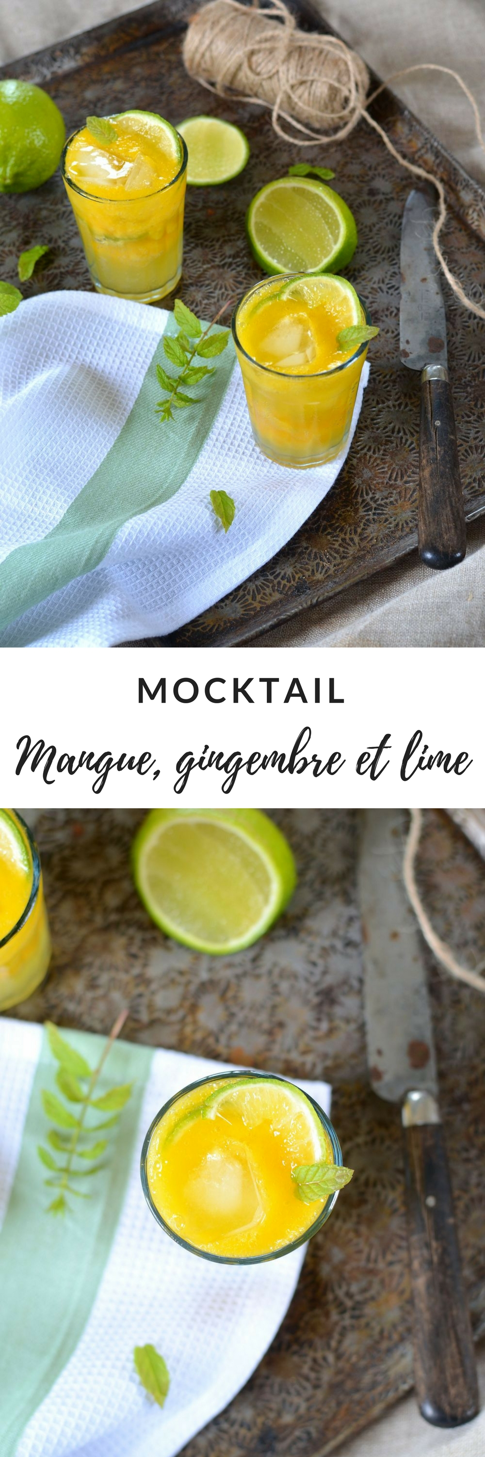 mocktail mangue gingembre lime
