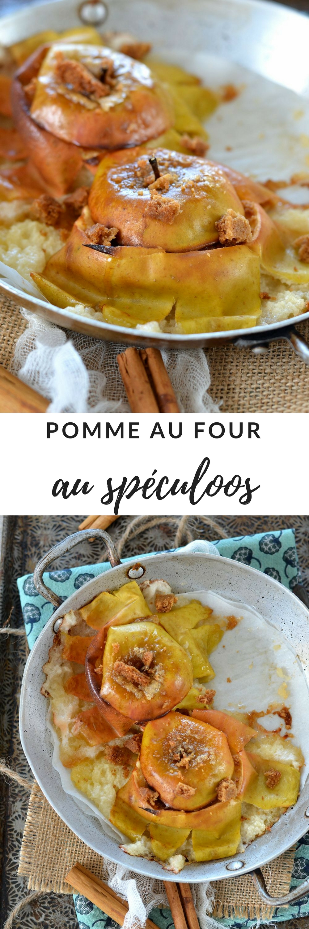 pomme au four speculoos