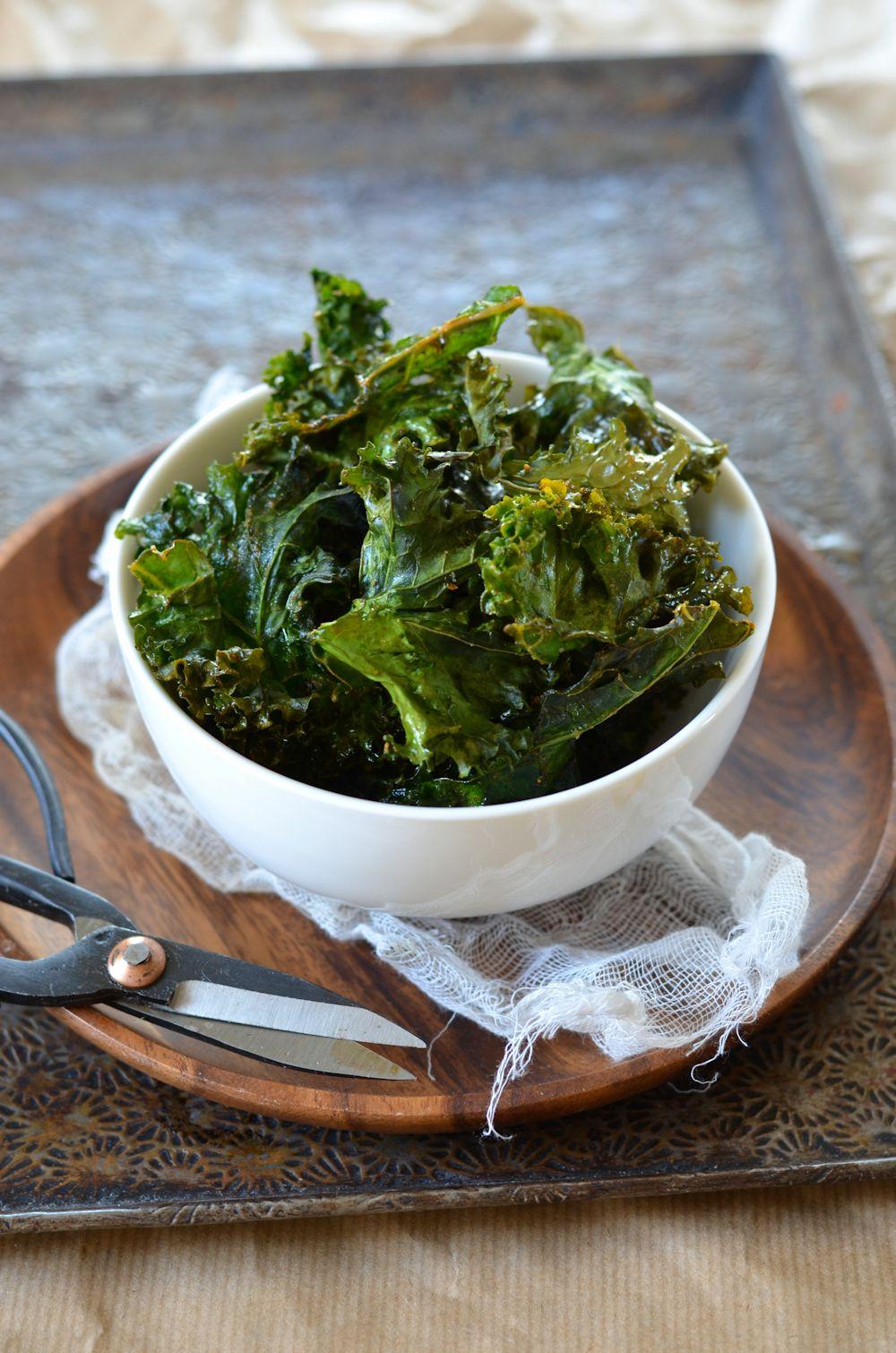kale croustillant au four