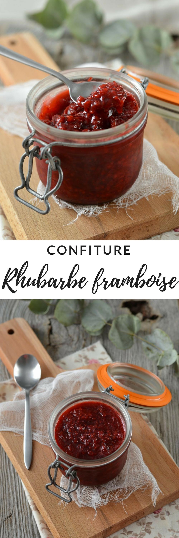 confiture rhubarbe framboise