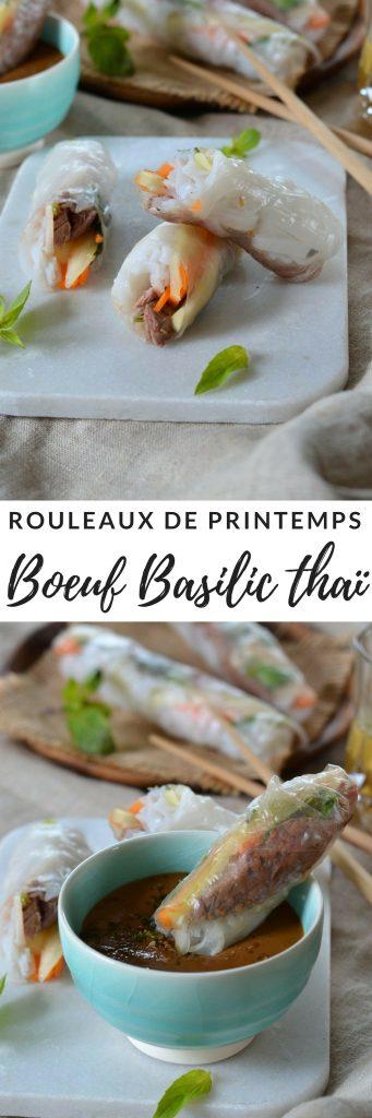 rouleaux de printemps boeuf basilic thai