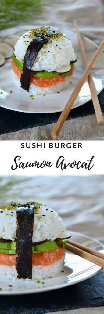 sushi burger saumon avocat