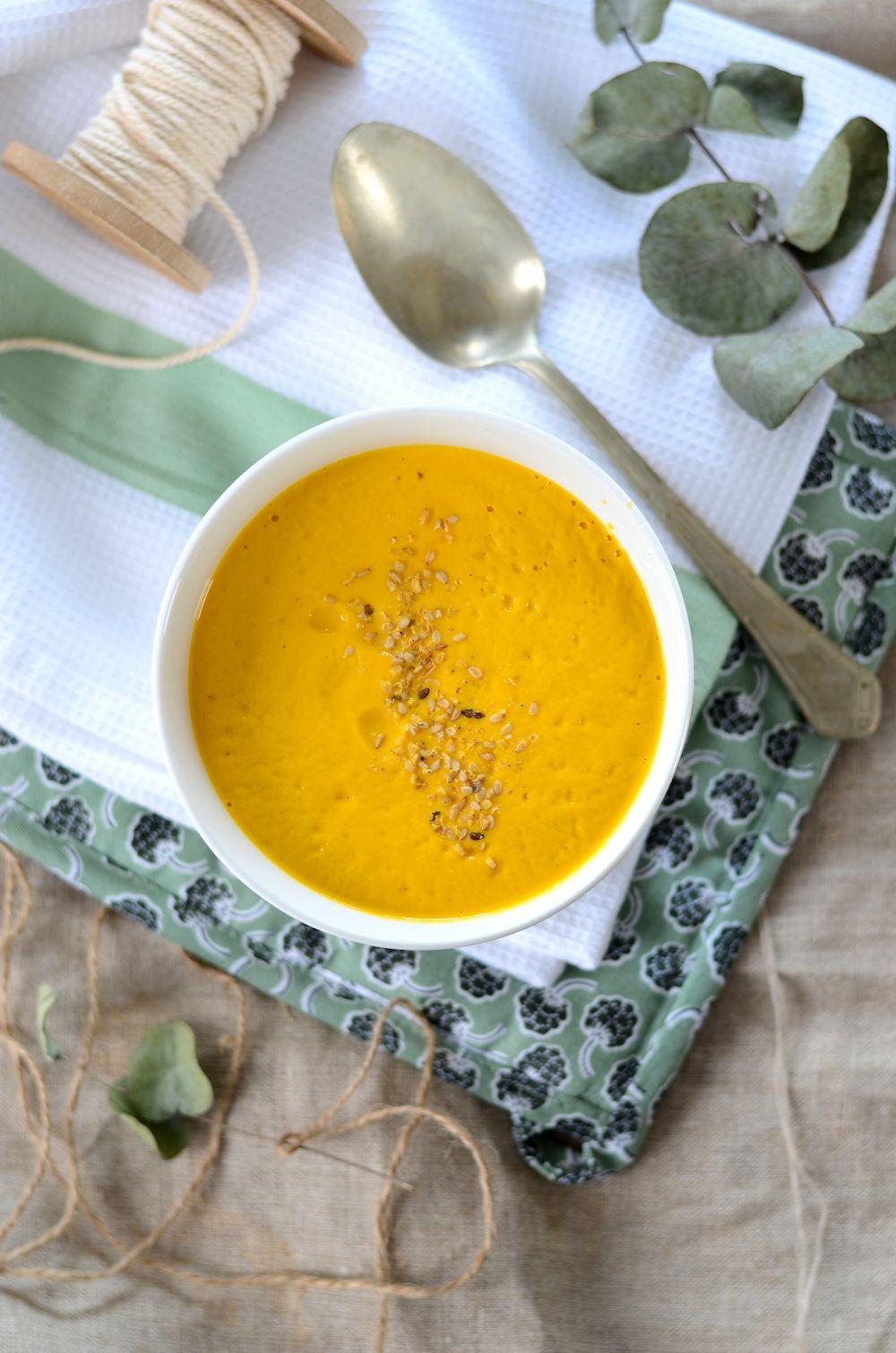 Soupe de carotte et courge butternut