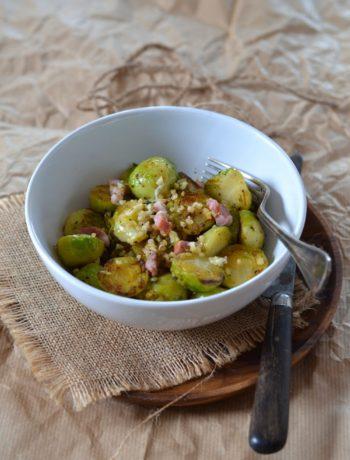 Salade de choux de Bruxelles et lardons