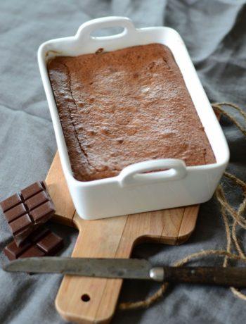 Fondant au chocolat et poudre d'amande