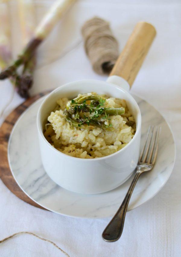 Risotto aux asperges et parmesan