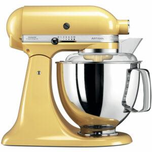 robot patissier kitchenaid jaune pastel