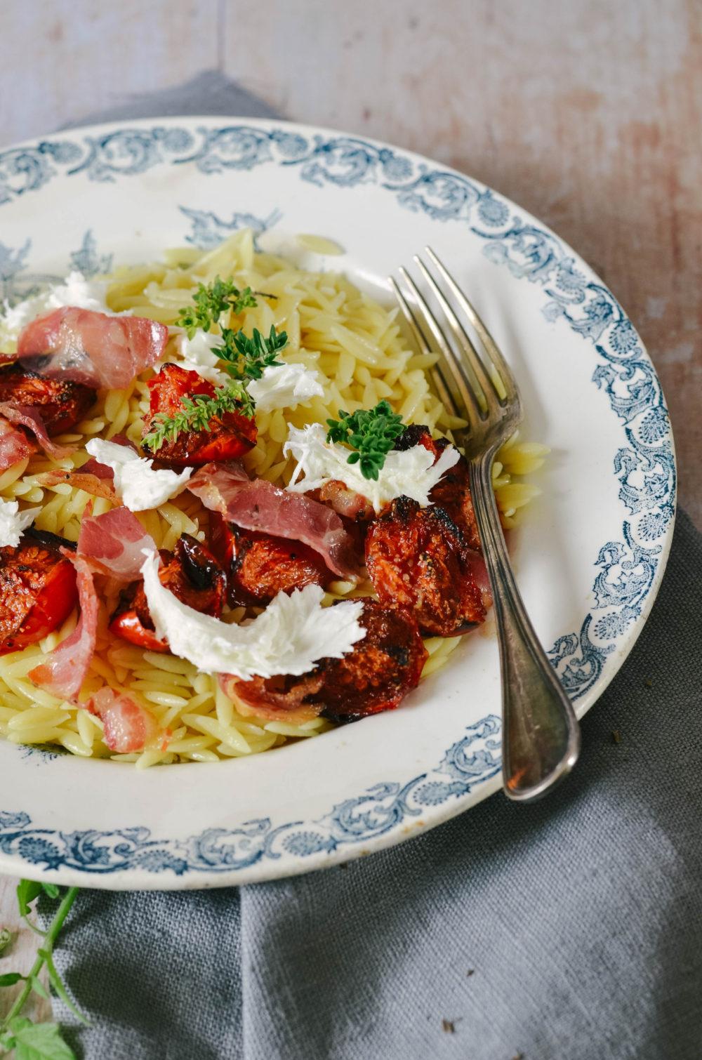 Pasta burrata tomate