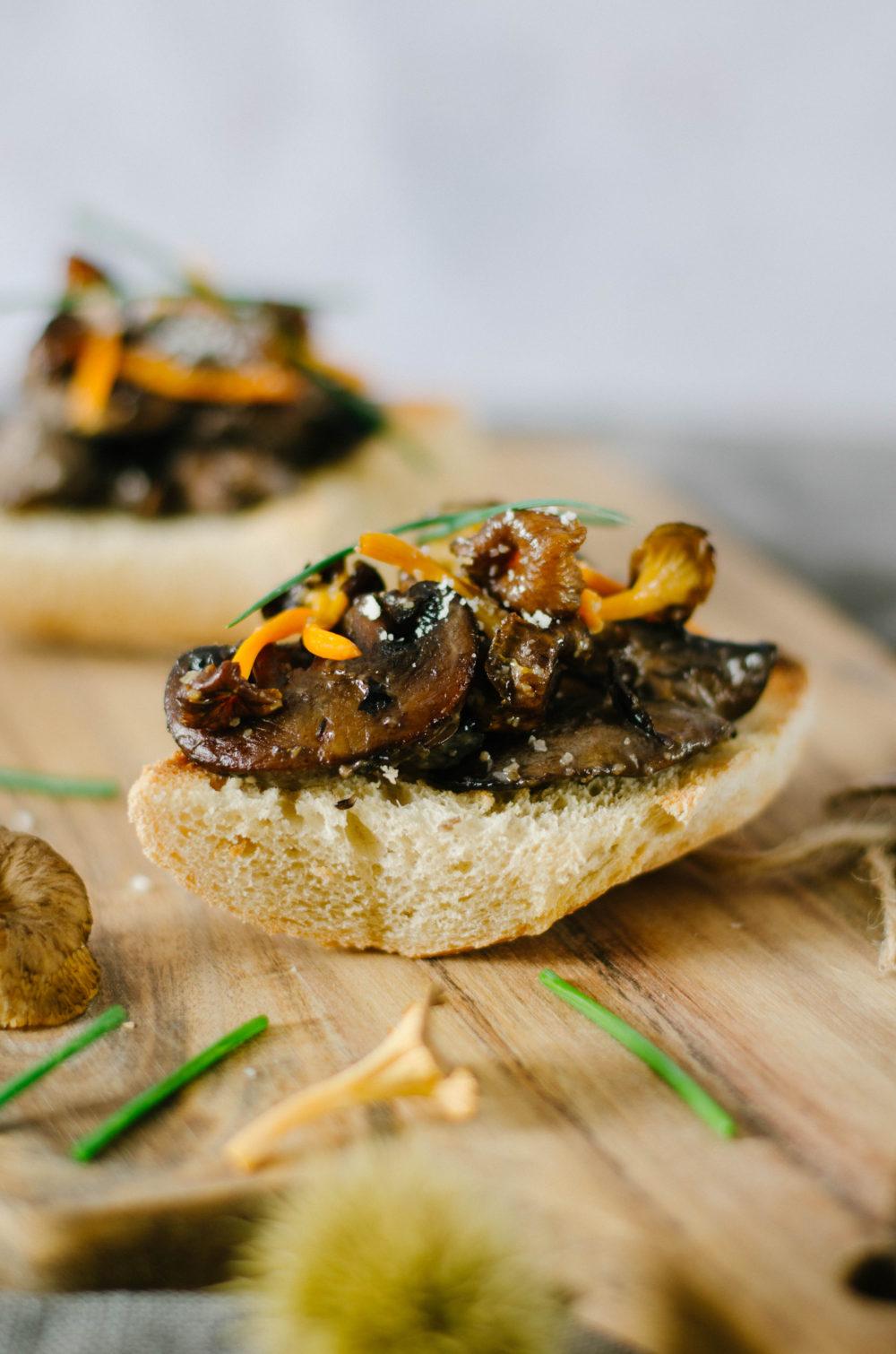 Croute aux champignons