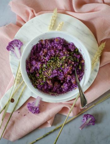 Taboulé de chou-fleur violet