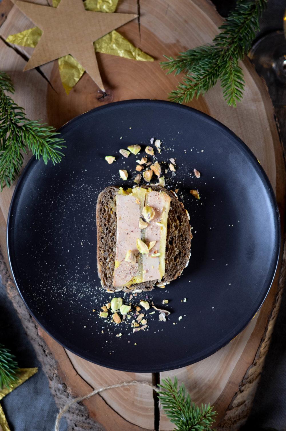Terrine de foie gras aux pommes