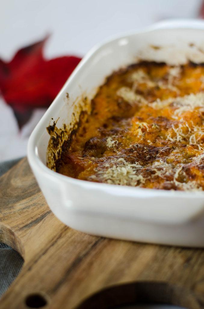 recette de potiron gratinée au four