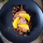 Foie gras poêlé au pain d'épices et suprêmes d'orange