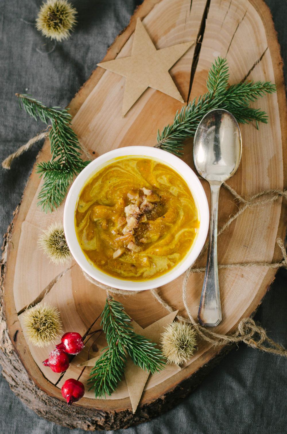 Soupe de potiron et châtaigne