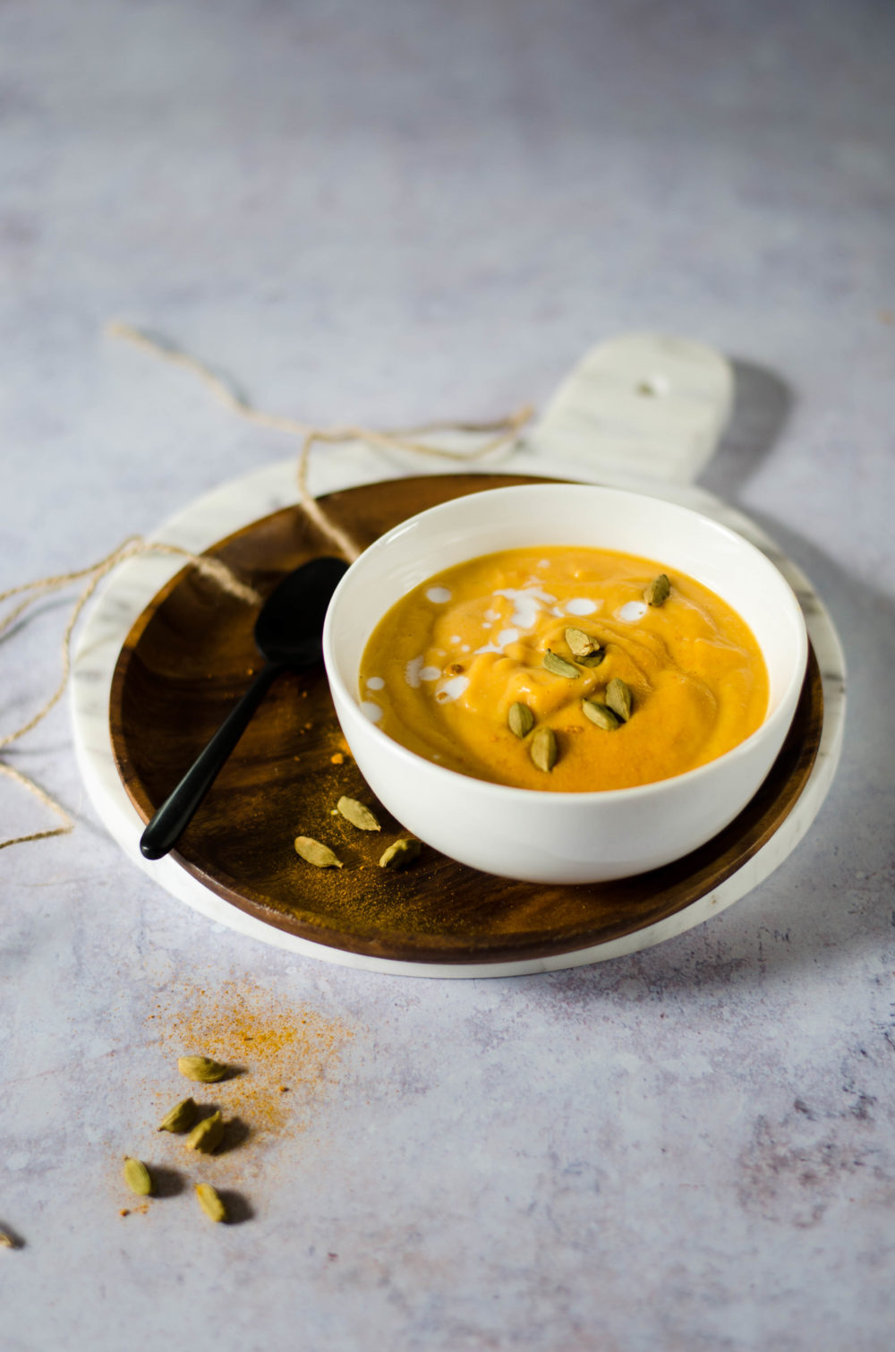 Soupe patate douce lait de coco