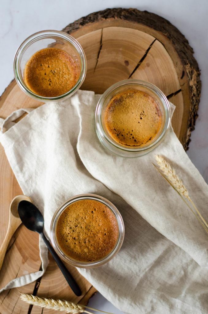 Crème dessert au café et chocolat