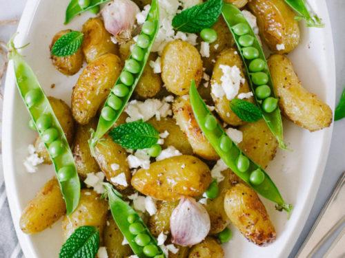 Salade de pomme de terre delicatesse, petit-pois et feta