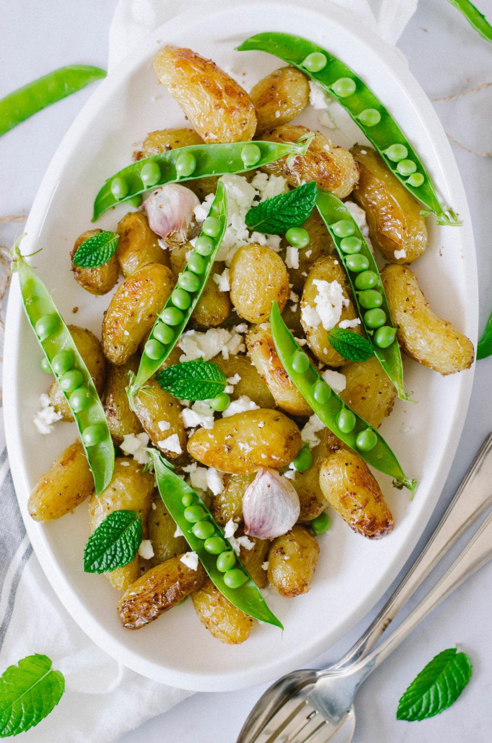 Salade de délicatesse, petit-pois et feta