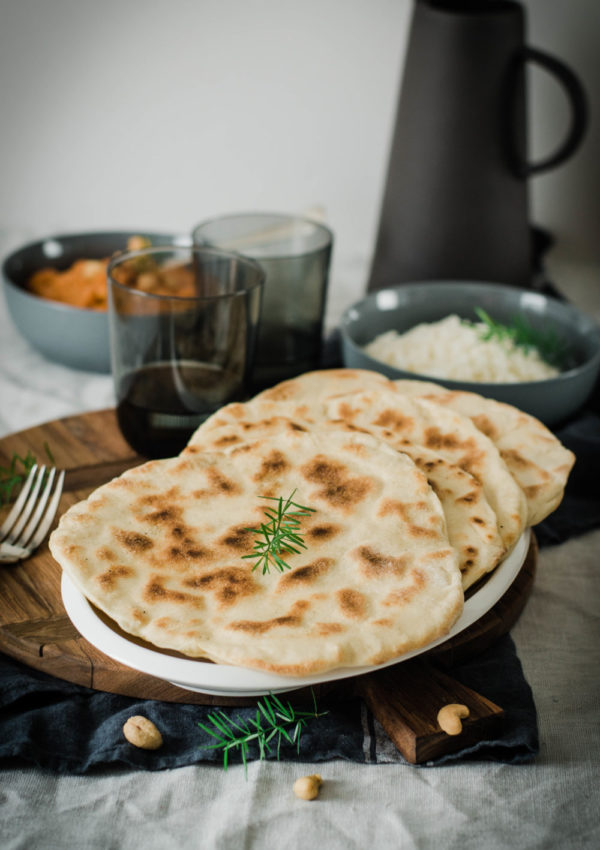 Cheese naan maison {pain indien au fromage}