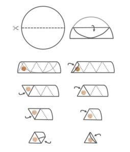 Comment plier des feuilles de brick en samoussa triangle