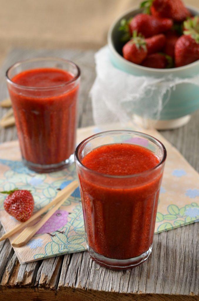 soupe fraise menthe