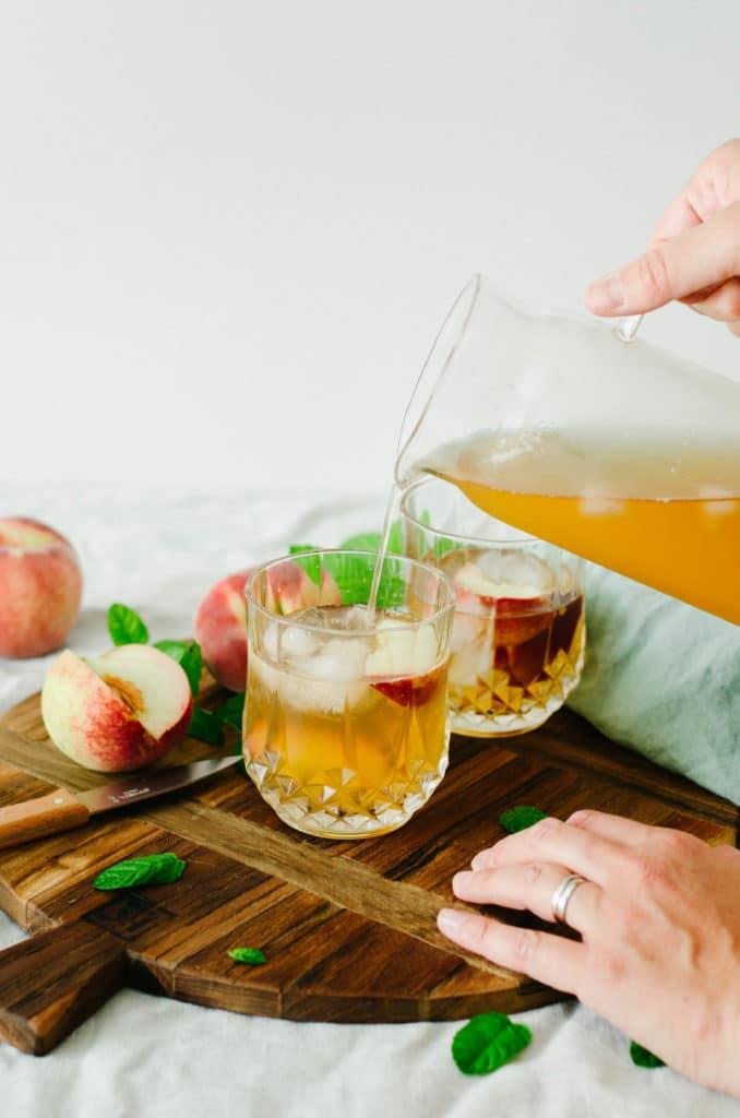Ice tea peche menthe
