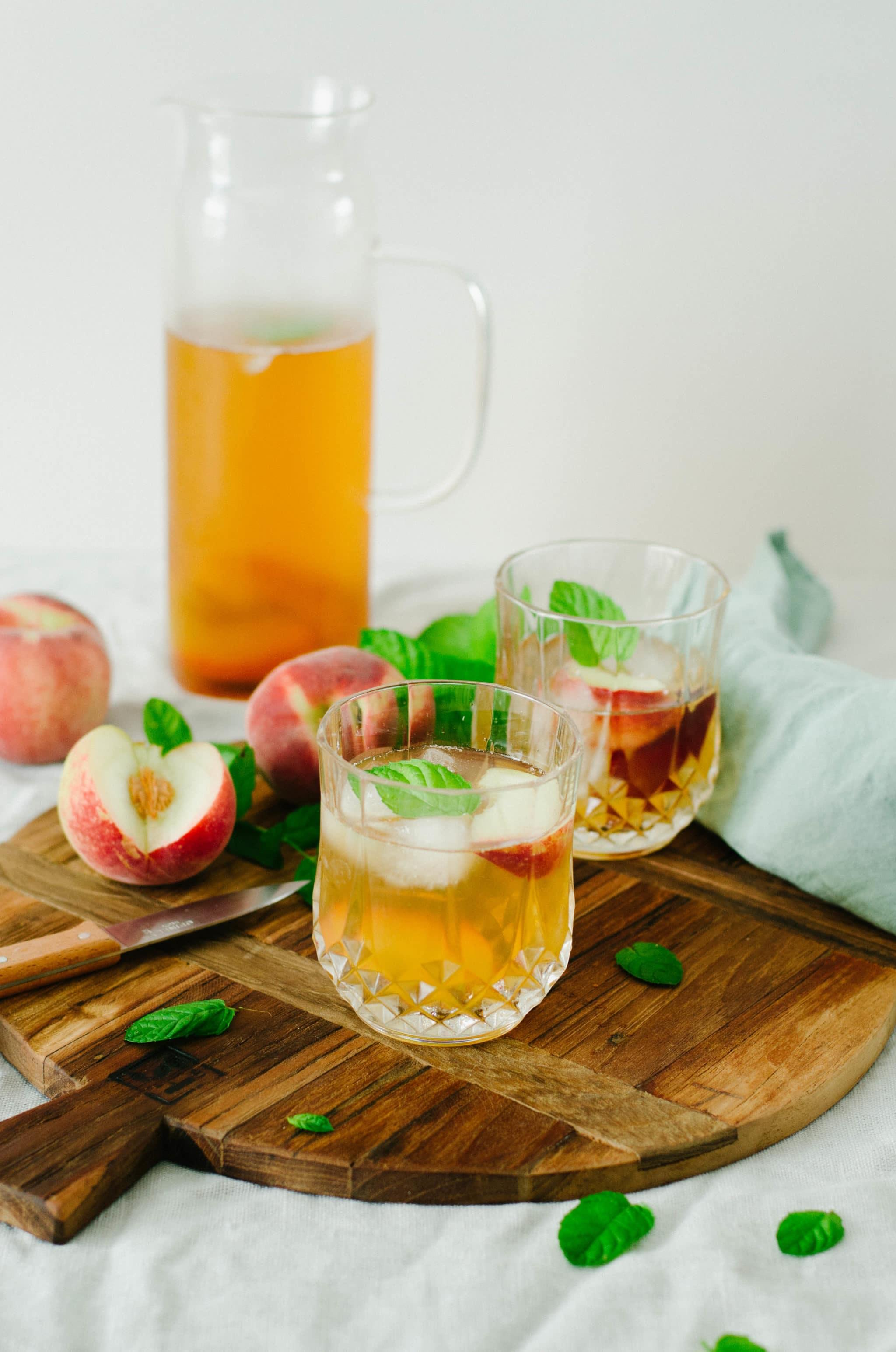 recette ice tea peche