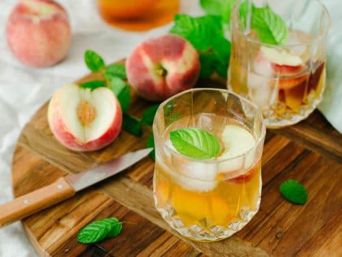 Ice tea peche menthe recette maison