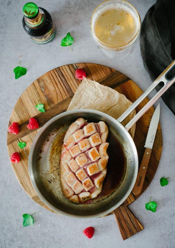 magret de canard framboise