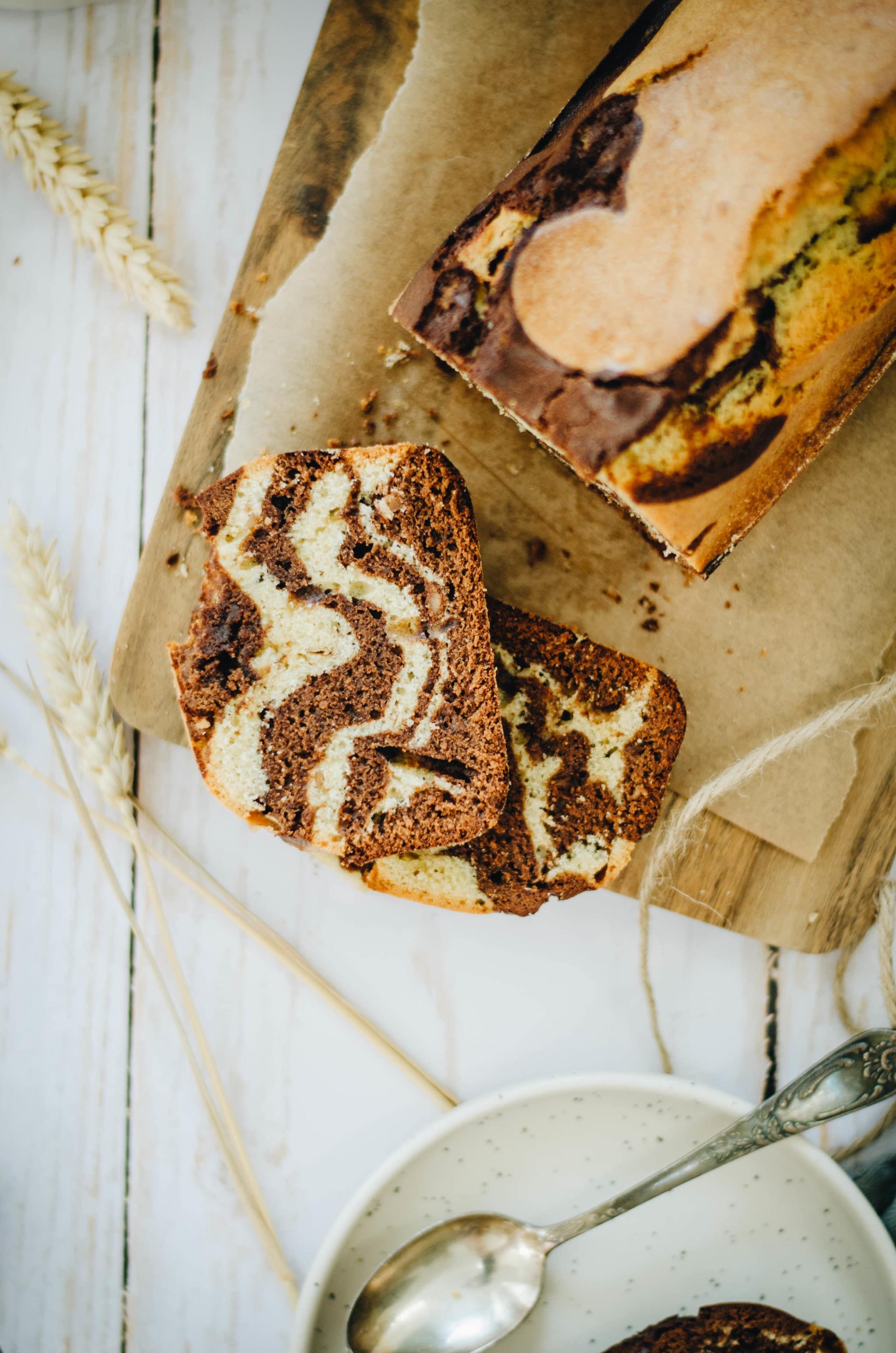 Gâteau marbré chocolat