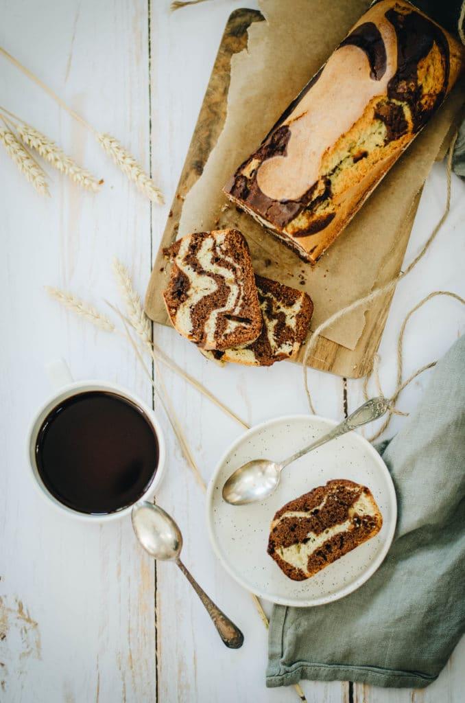 Cake marbré chocolat et cacahuète