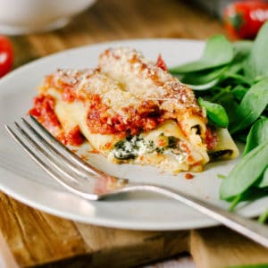 cannelloni ricotta epinard sauce tomate