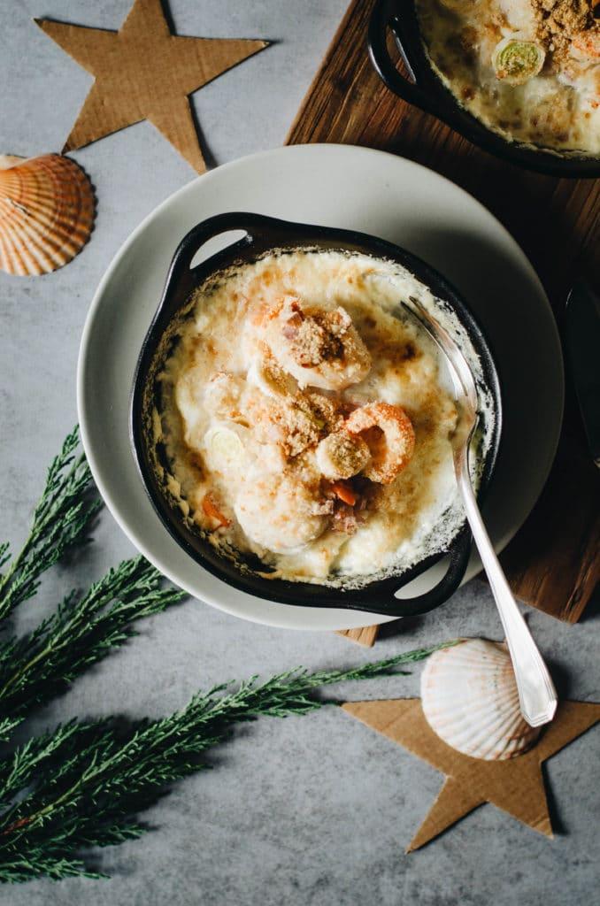 Cocotte de fruits de mer et legumes
