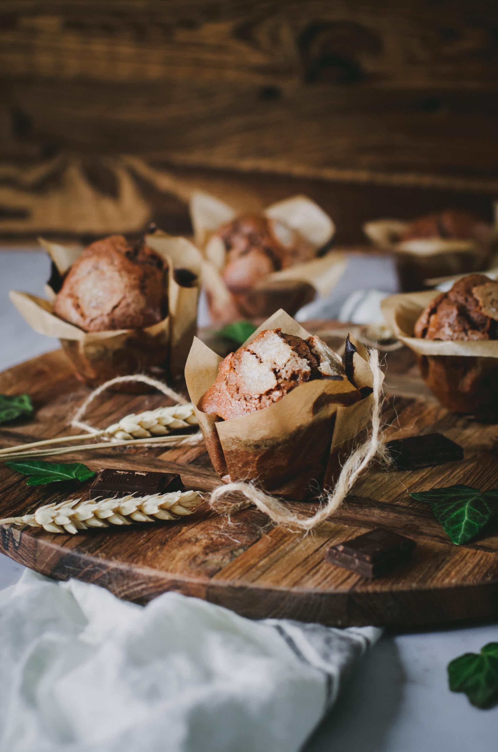 Gâteaux choco poire