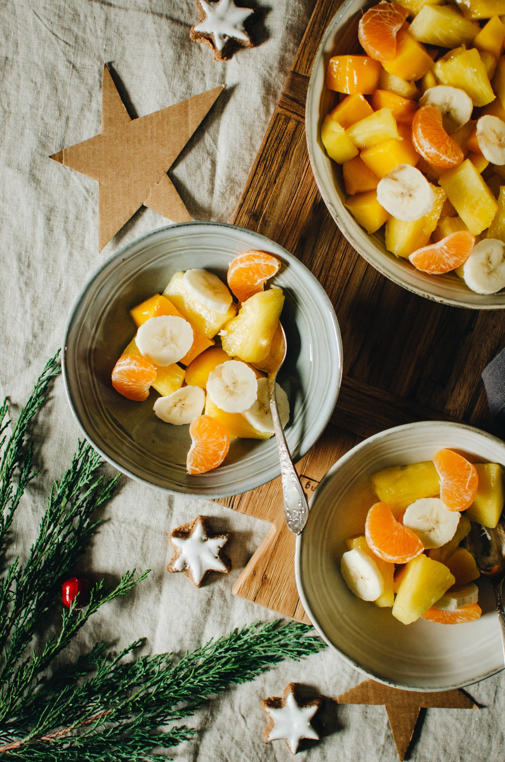Fruits de Noel en salade