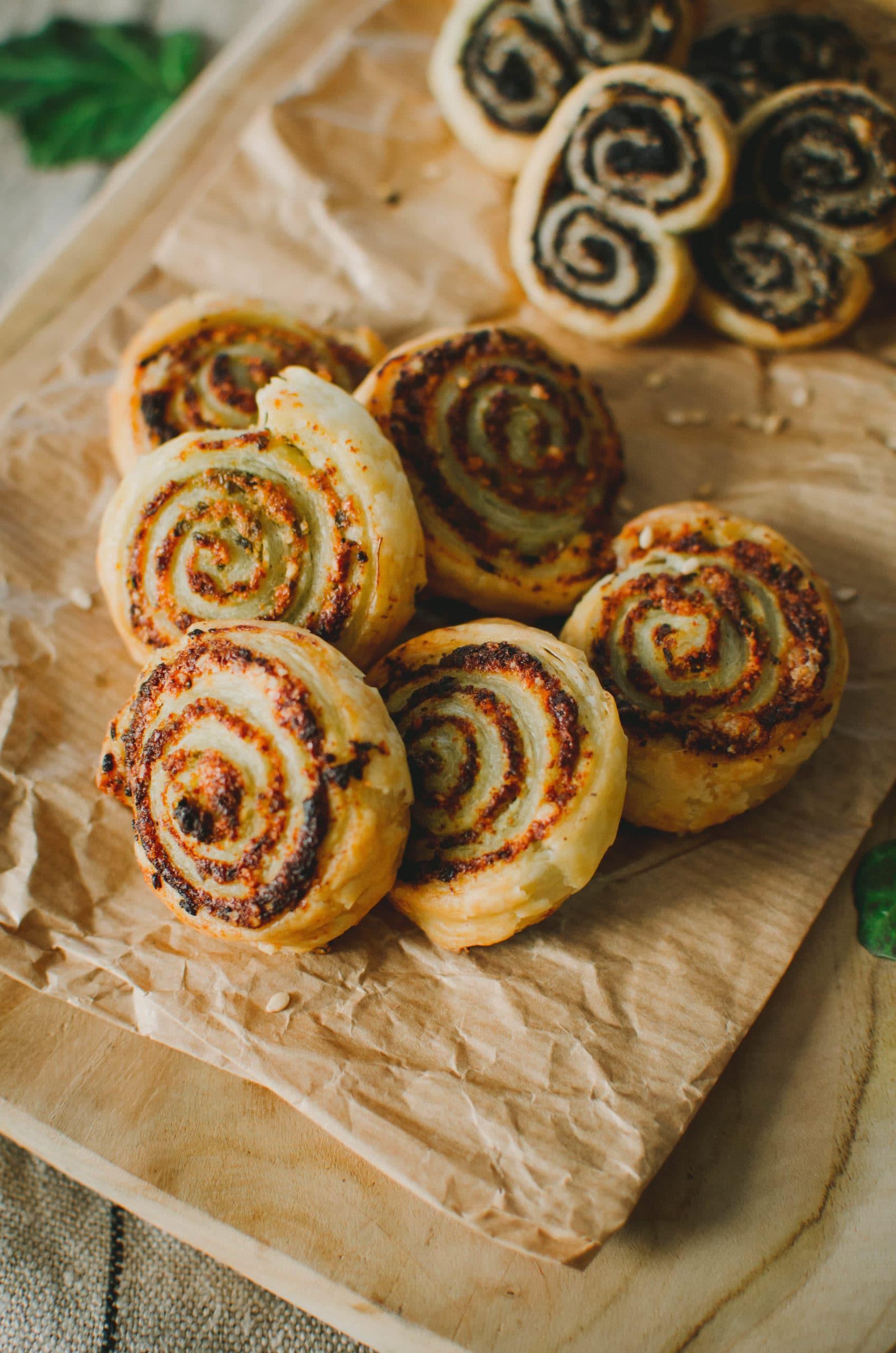 Recette biscuits apéritifs pesto