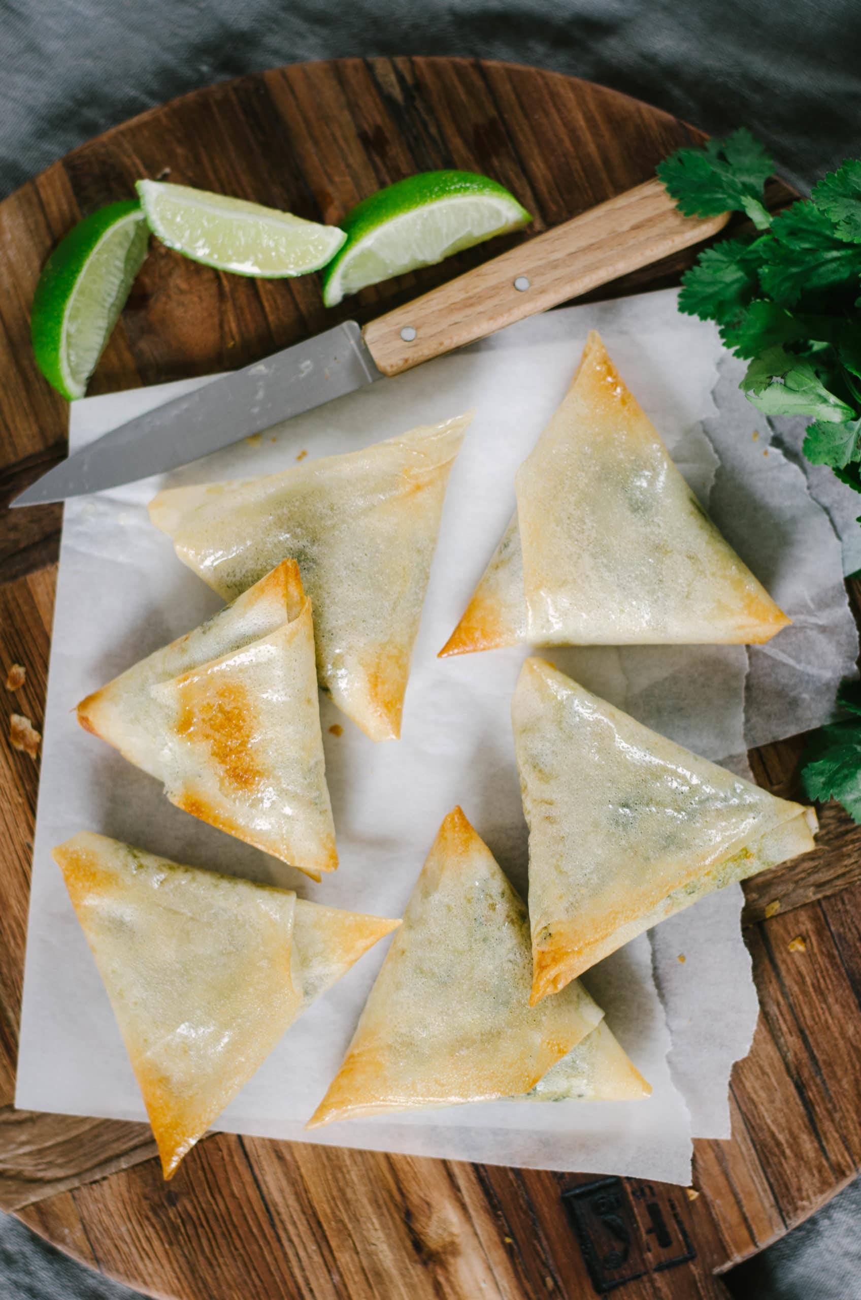 Samoussa végétarien aux légumes et épices indiennes