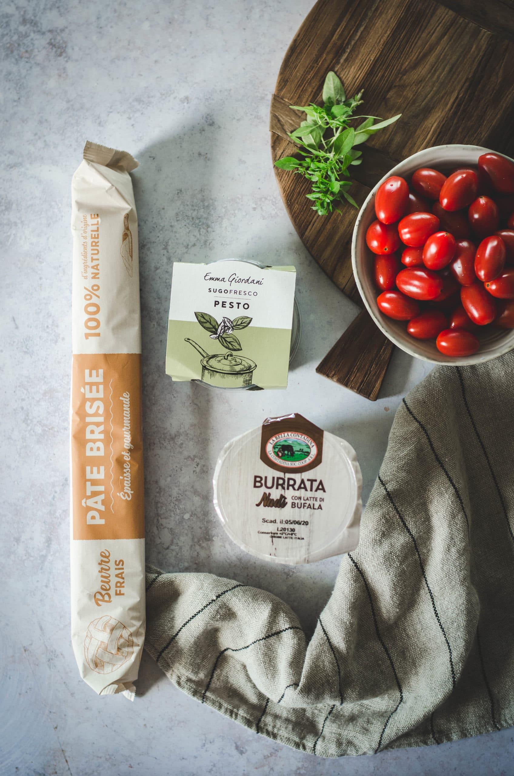 Ingrédients Tarte couronne tomate et burrata